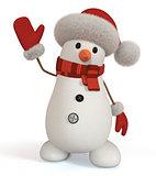 3d snowman.