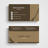 Modern sample brown business card template