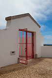 The gate in Lighthouse of Cabo de Sao Vicente, Sagres,Algarve,Po