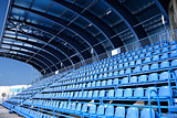 empty blue seat at Stadium
