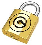 the copyright padlock