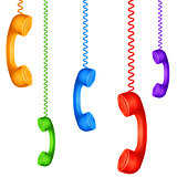 Colored handsets.