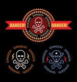 Danger vector label