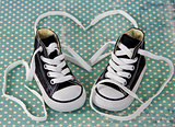 sneakers with heart shoelace