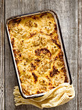rustic baked cauliflower cheese