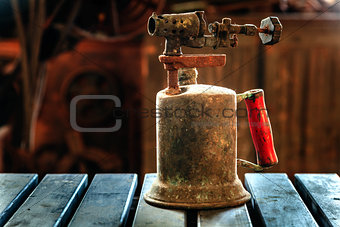 Old kerosene torch