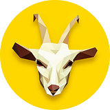 goat head polygonal