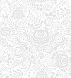 White and grey seamless pattern in Russian style gzhel