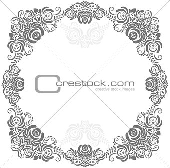 grey and white vintage frame