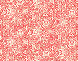 red floral textile vector seamless pattern in gzhel style