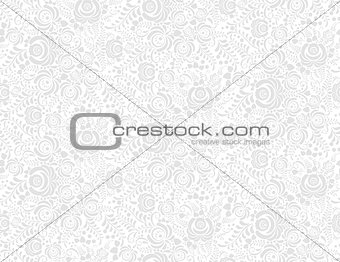 grey floral textile vector seamless pattern in gzhel style