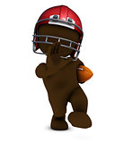 Morph Man playing american football