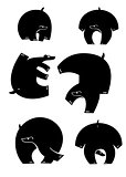 Original art bear silhouettes