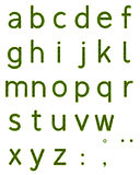 Grass Alphabet Lowercase