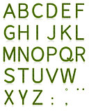 Grass Alphabet Uppercase