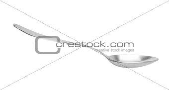 old silver spoon isolated on white background