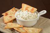 Pita chips and dip