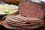 Thin sliced roast beef