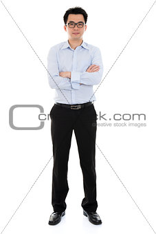 Asian businessman arms crossed