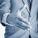 Businessman offer hand shake