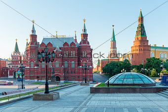 cityscape downtown Moscow. View of the History Museum