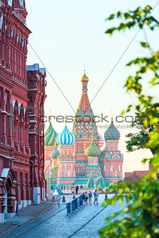 Beautiful St. Basil's Cathedral on Red Square