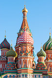 Russian painted dome Saint Basil's Cathedral