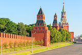 famous Kremlin in Moscow on a sunny morning
