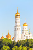 golden domes of Orthodox churches in Moscow