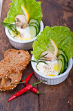 fresh garlic cheese dip salad