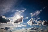 Dynamic blue sky
