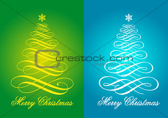 Christmas cards, vector set