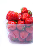 juicy strawberries in a container