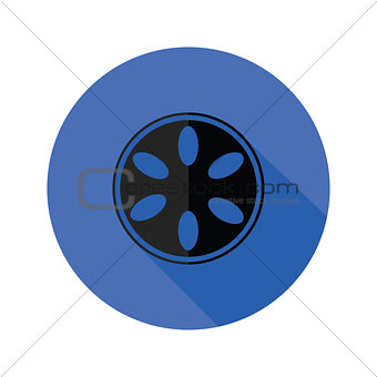 camera spool flat icon