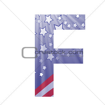 american flag letter F