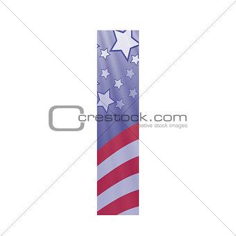 american flag letter I