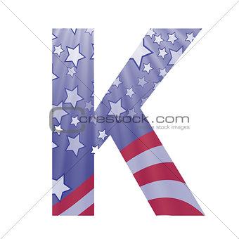 american flag letter K