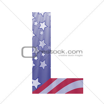 american flag letter L