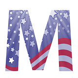 american flag letter M