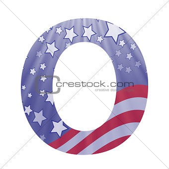 american flag letter O
