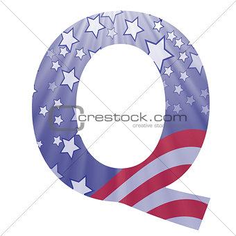 american flag letter Q