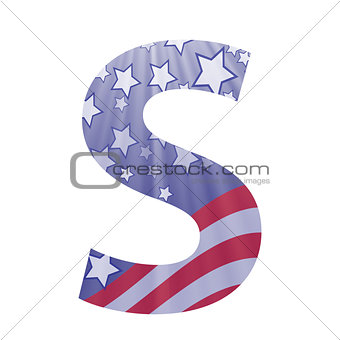american flag letter S