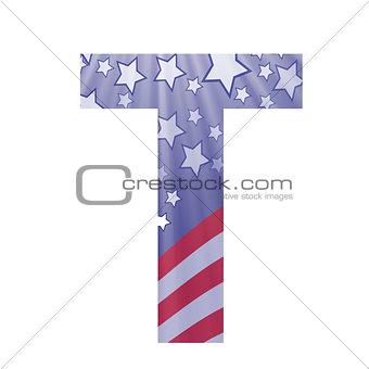 american flag letter T