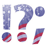 american flag question mark