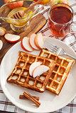 Apple waffles for breakfast