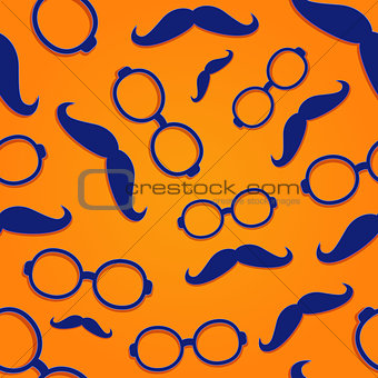 Frame Glasses with Moustach Seamless