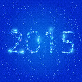Shiny Blue Neon 2015 Numbers
