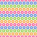 Colorful Plain Seamless Pattern with Geometric Ornament