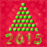 New Year Shiny Symbolic Green Tree