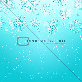 Abstract Christmas Card with Snowflakes